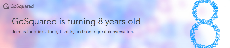 GoSquared is turning 8 - join us on February 3rd
