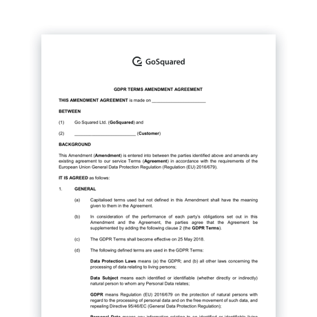 GoSquared Data Processing Agreement (DPA)