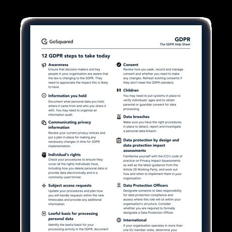 GDPR Help Sheet