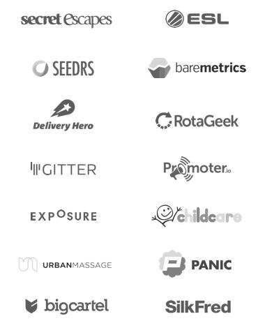 GoSquared customer logos