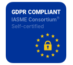 IASME GDPR certification badge