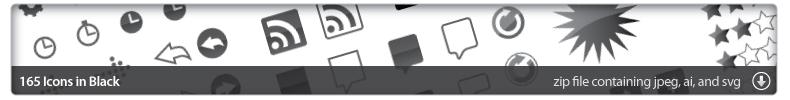 165 Vector Icons, the originals. Click to download the zip.