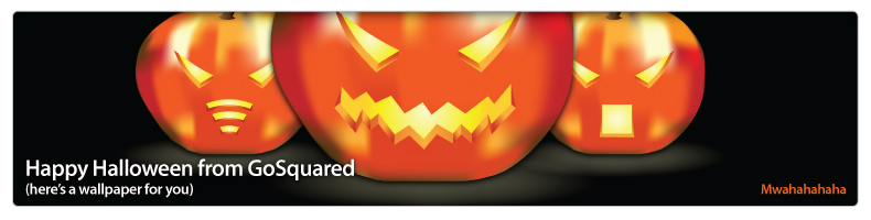 Here's a wallpaper to say Happy Halloween from GoSquared