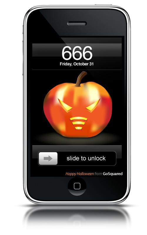 A Scary Pumpkin for your iPhone. Mwahahaha