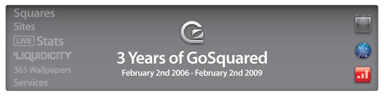 GoSquared's 3rd Birthday: 3rd February 2006 - 3rd February 2009