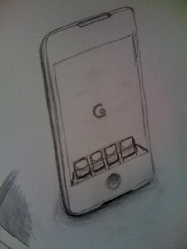 iPhone Sketch 2. Oooh dock.