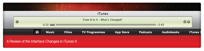 From 8 to 9 - Whats Changed in iTunes