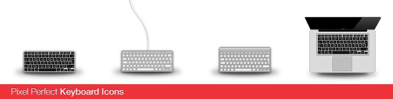 Pixel Perfect Keyboard Icons