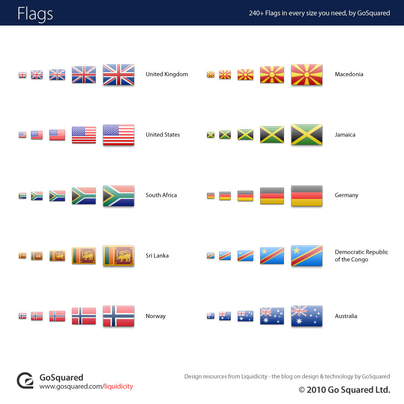 240+ Flag Icons - here's some of our favs