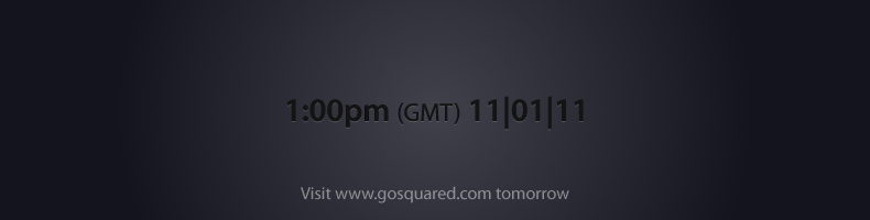 Release tomorrow - visit GoSquared for more information at 1pm GMT.