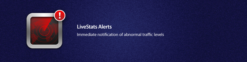 LiveStats 3 Alerts - Instant Notification of abnormal traffic levels