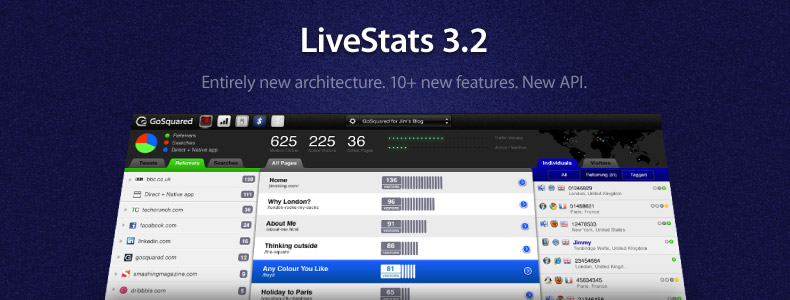 Introducing GoSquared LiveStats 3.2. Entirely rewritten from the ground up.