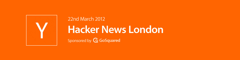 GoSquared Sponsors Hacker News London Meetup