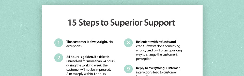 GoSquared's 15 Steps to Superior Support