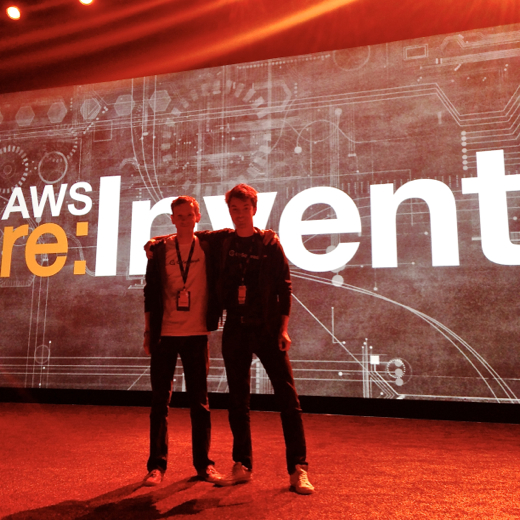 James and JT on the keynote stage at AWS reInvent 2013