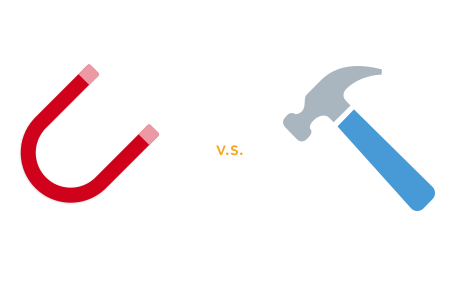 Inbound marketing vs traditional marketing – magnet vs hammer