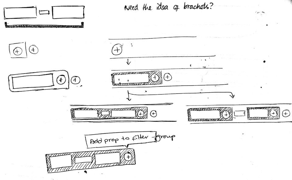 Product design filter sketches