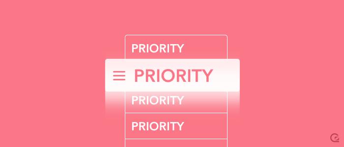 Prioritisation is key