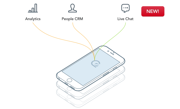 User level analytics and live chat in one simple SDK