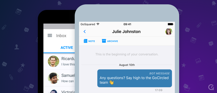 GoSquared Inbox mobile apps for iOS and Android