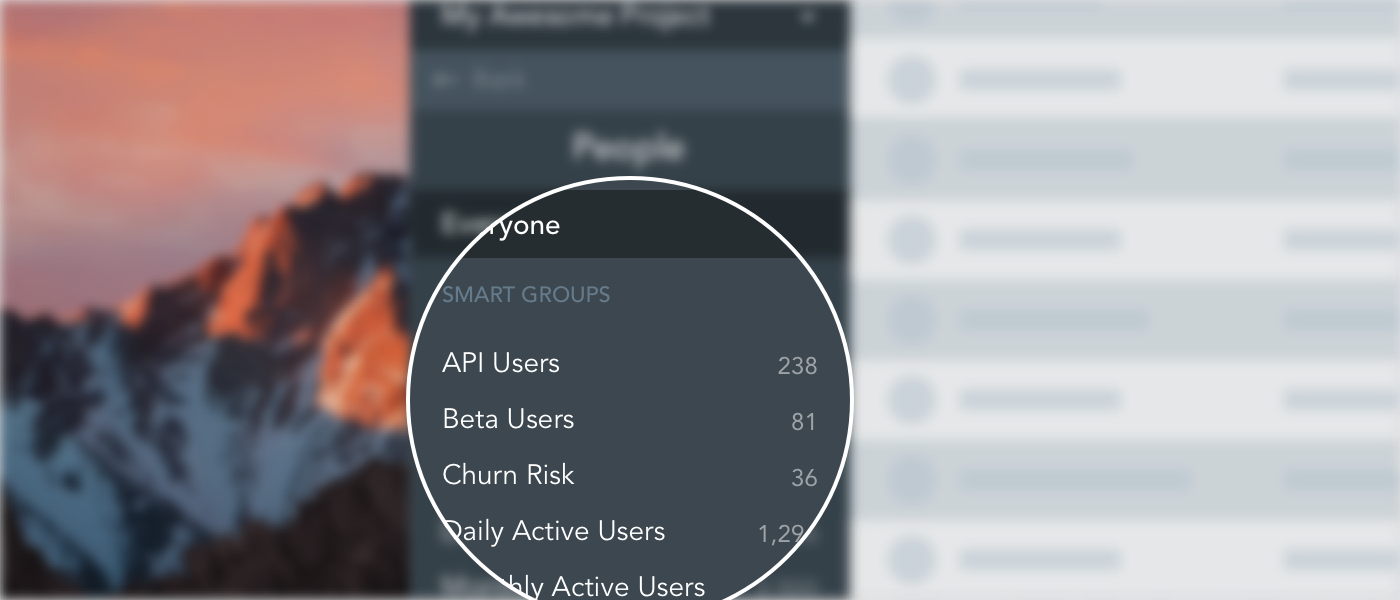 Smart Group counts in GoSquared People CRM