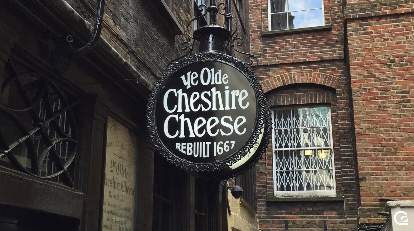 Ye Olde Cheshire Cheese pub sign