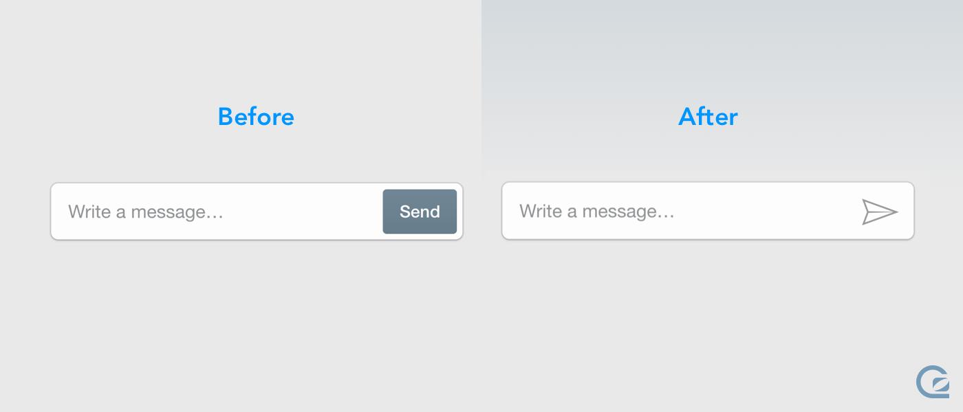 Removing the send button