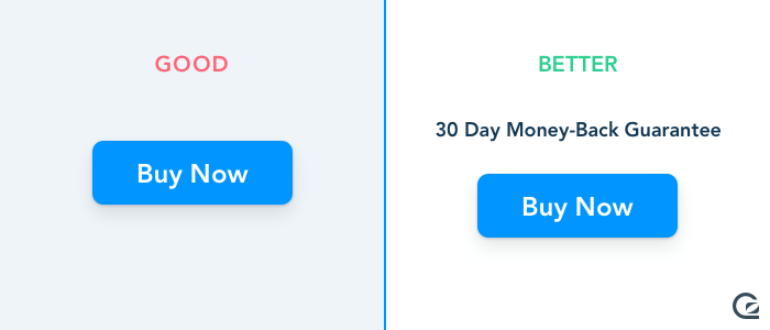 Call-to-Action buttons can be combined with header copy