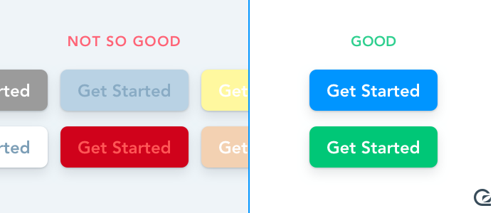 Call-to-Action buttons should use bold colours