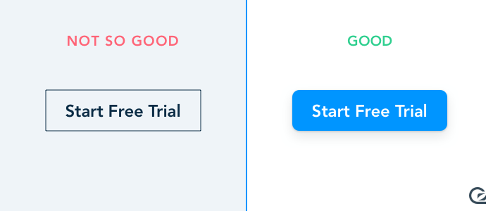 Call-to-Action buttons should be a bold and attractive shape