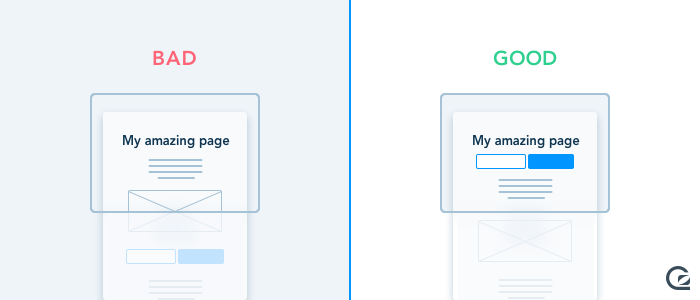 Call-to-Action buttons should be above the fold