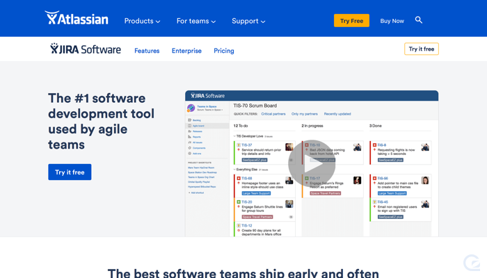 Atlassian CTA example