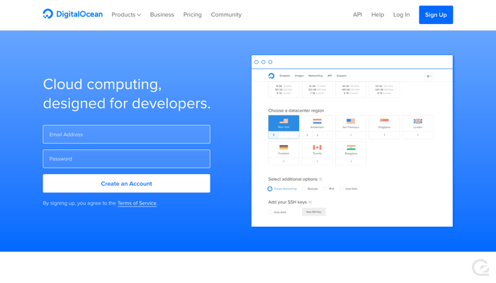 DigitalOcean CTA example