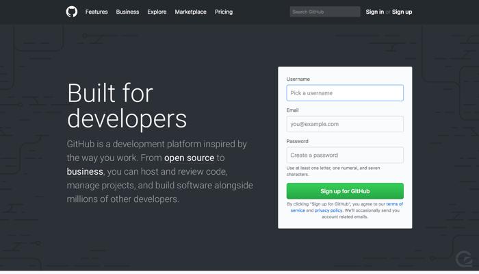 GitHub CTA example