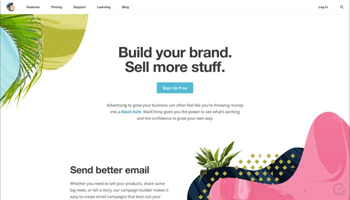 MailChimp CTA example