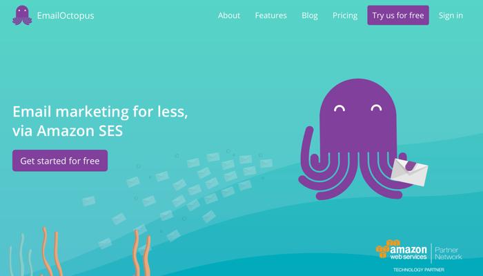 EmailOctopus CTA example