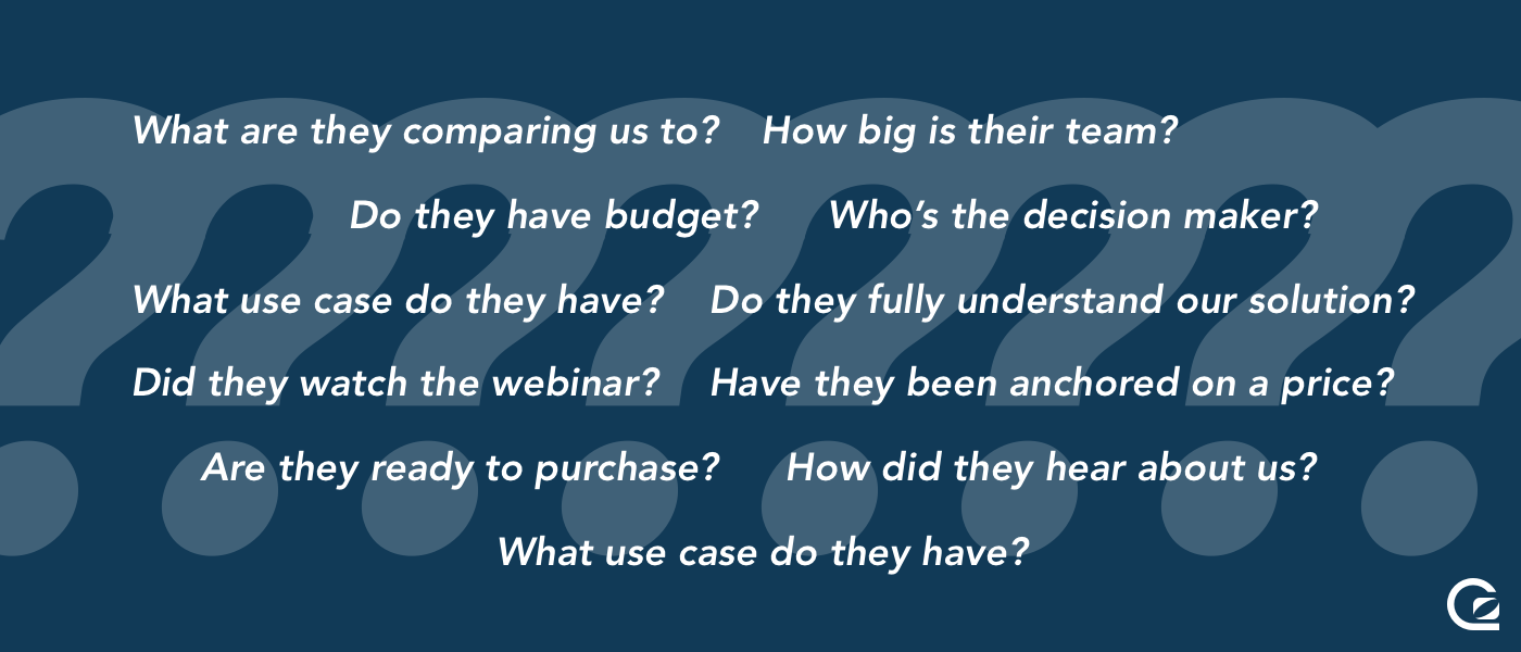 Questions from your sales team