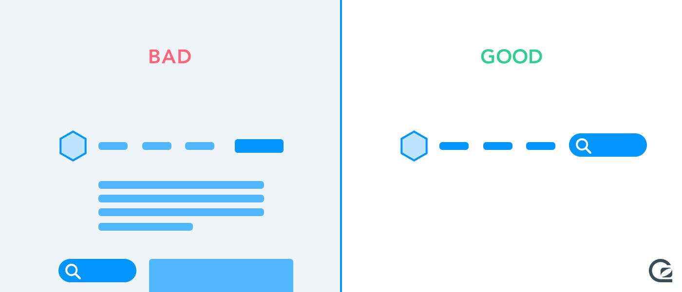 Website navigation - integrate search into your navbar