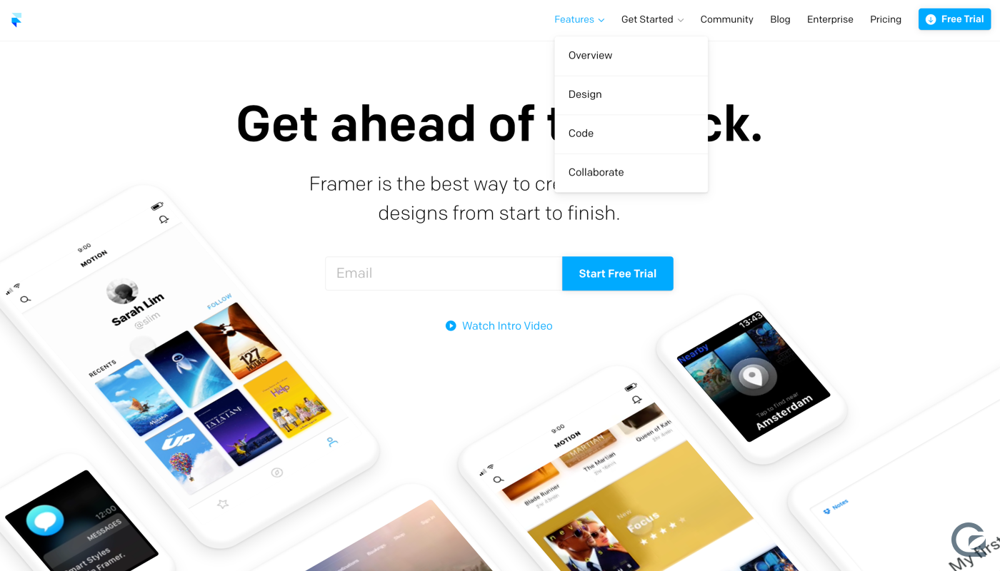 Framer website navigation