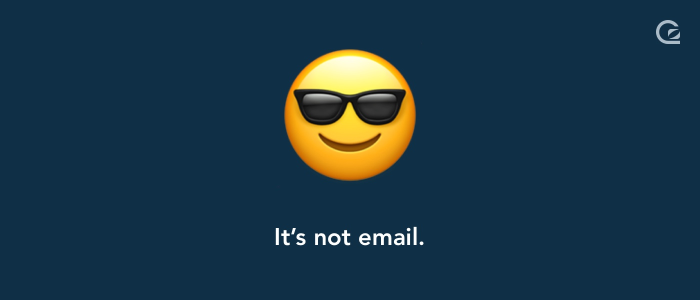 Live chat is not email
