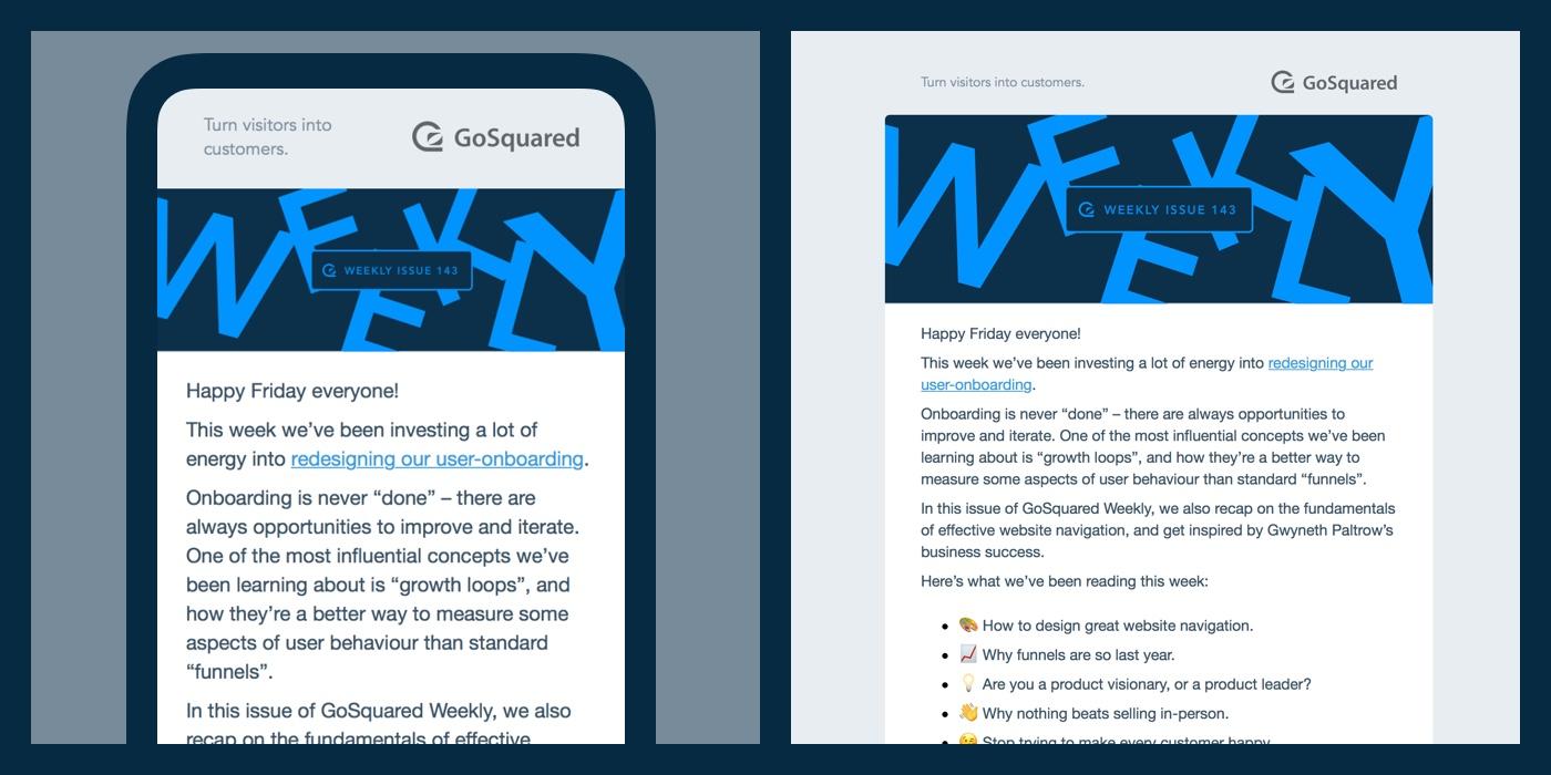 Fully responsive email newsletter design