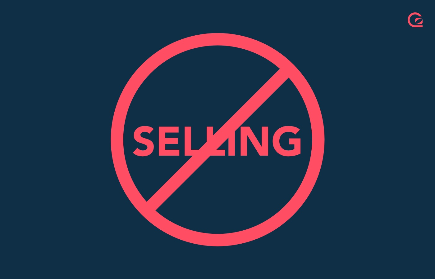 Sales techniques - Stop selling today illustration