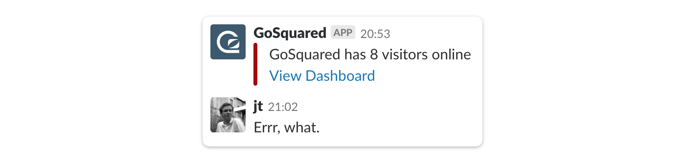 when there are a low number of visitors online we get this alert on slack