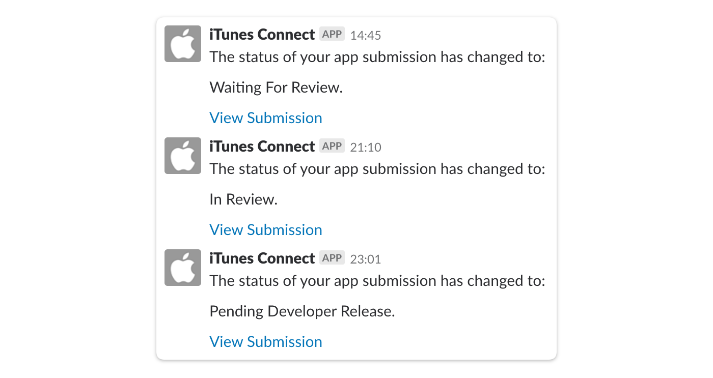 apple store deployment slack integration