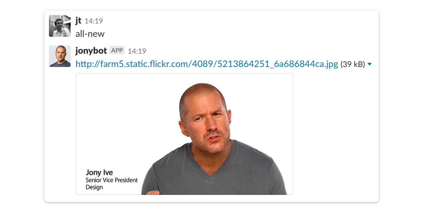 Jony Ive slack integration