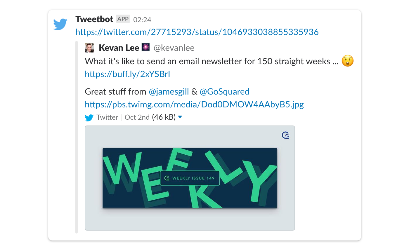 twitter slack integration