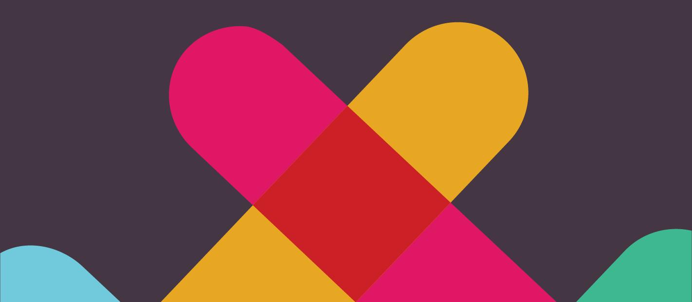 slack logo made into a heart shape