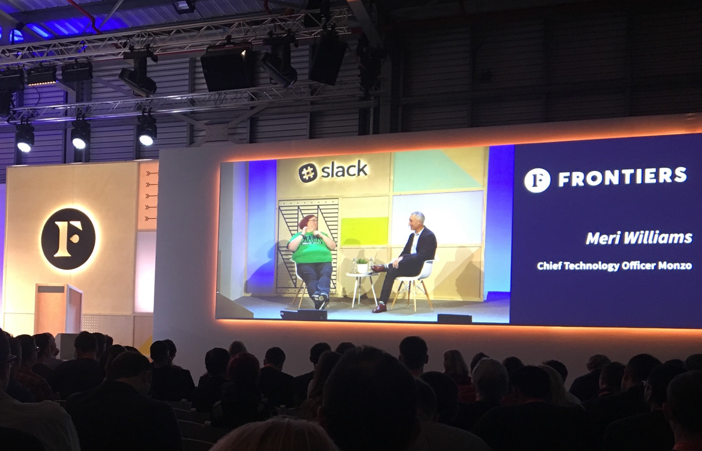 photo of the main stage at Slack Frontiers