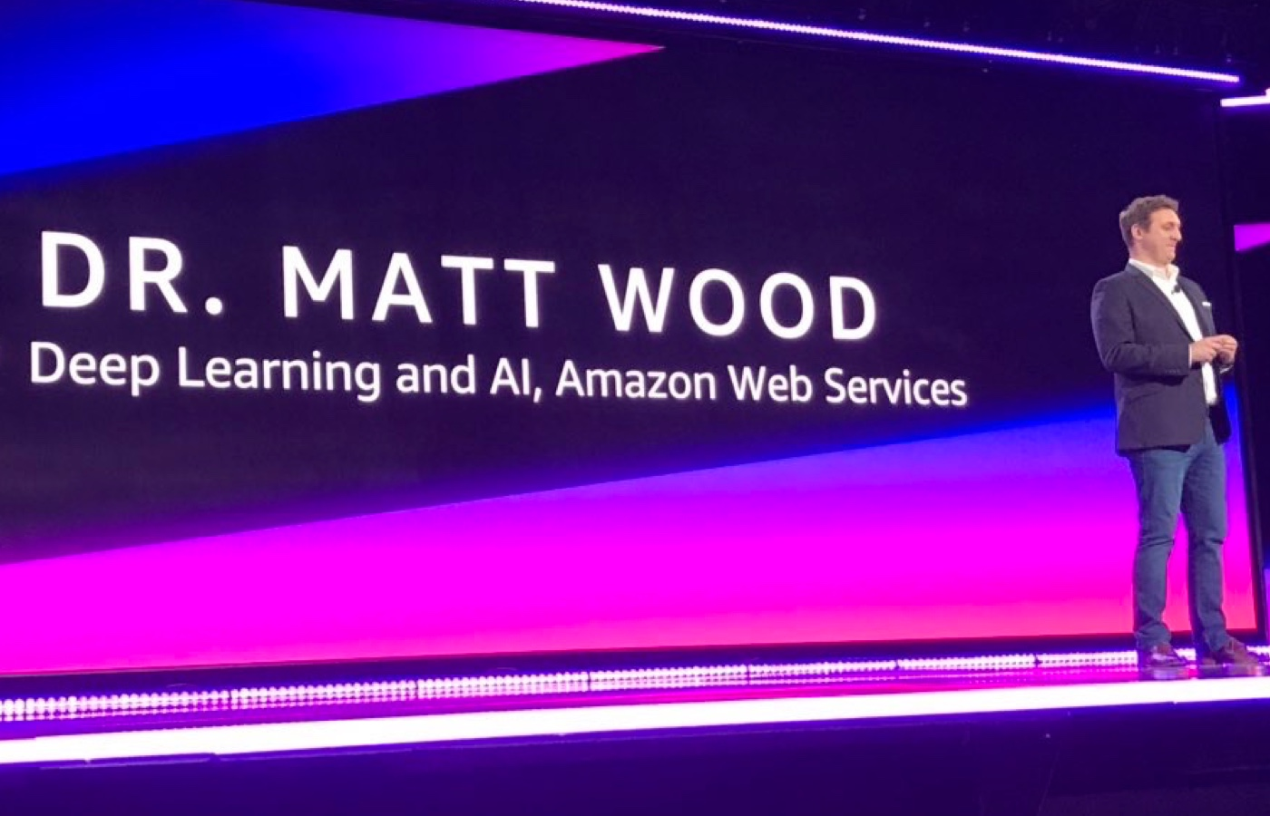 Keynote speaker at the AWS re:invent conference