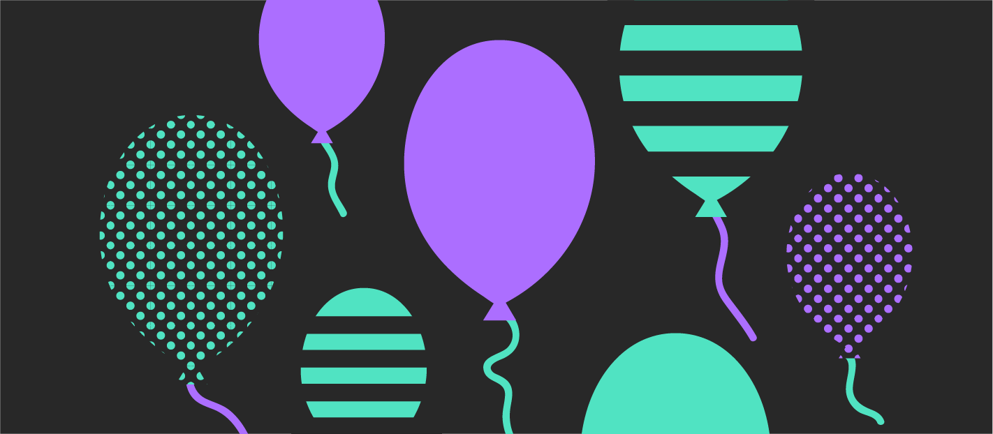 balloons going up showing successful user onboarding